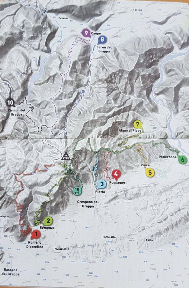 20181001_111641 map of Monte Grappa road bike routes
